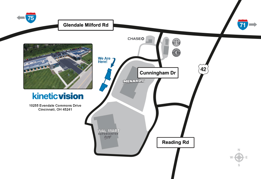 Directions to the Kinetic Vision campus